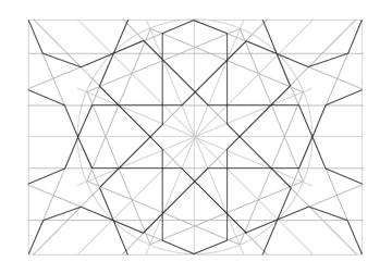 Rosette in rectangle step 26