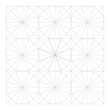 Eightfold rosette step 7