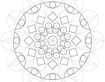 Rose window step 37