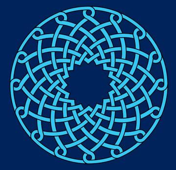 Armenian knot coloured