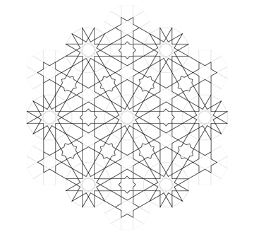 Pattern from the Cordoba Synagogue finished