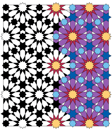 Pattern from the Cordoba Synagogue coloured