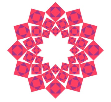 Variant with squares filled and coloured