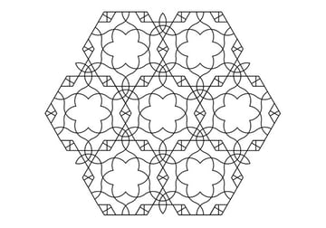 Flowery tiling pattern version 2 finished