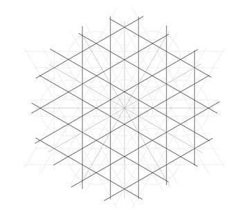 Flowery tiling pattern step 11