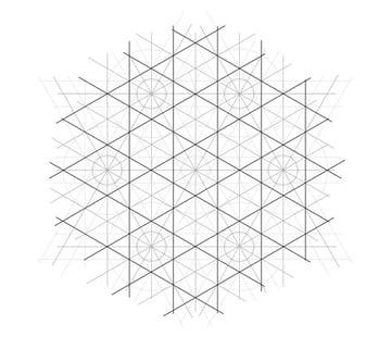Flowery tiling pattern step 12