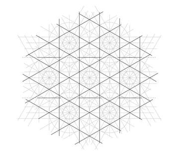 Flowery tiling pattern step 13