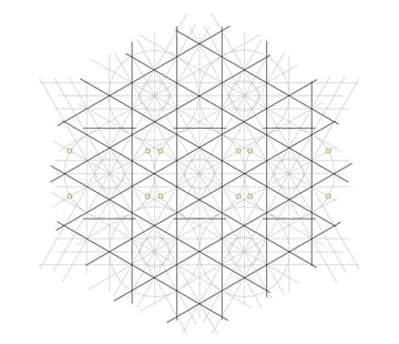 Flowery tiling pattern step 14