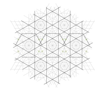 Flowery tiling pattern step 15