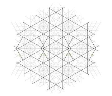 Flowery tiling pattern step 16