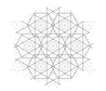 Flowery tiling pattern step 17