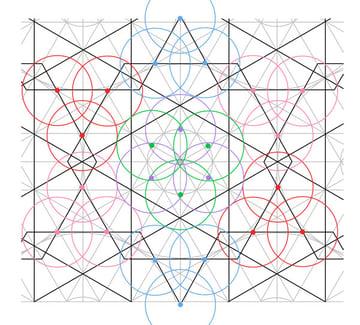 Flowery tiling pattern step 19