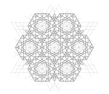Flowery tiling pattern step 21