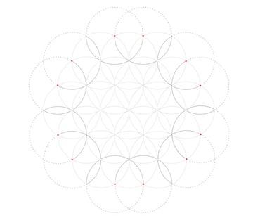 Flowery tiling pattern step 4