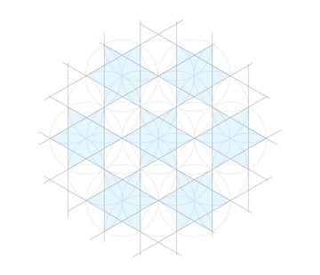 Flowery tiling pattern step 6