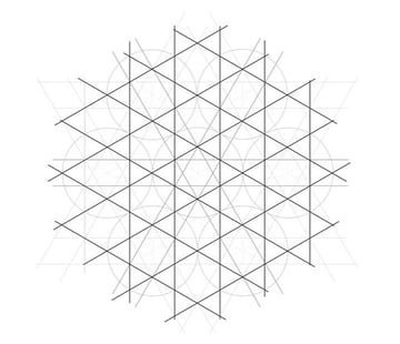 Flowery tiling pattern step 8