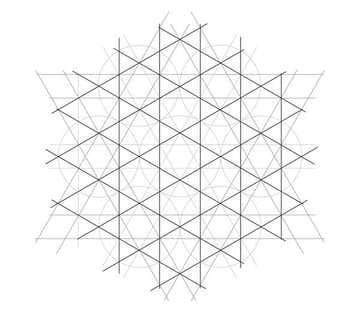 Flowery tiling pattern step 9