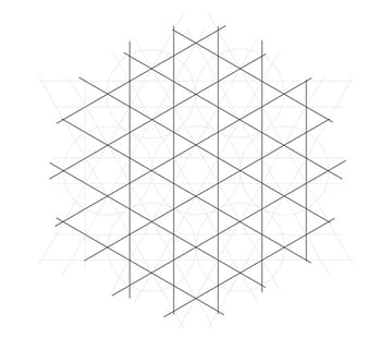 Flowery tiling pattern step 7