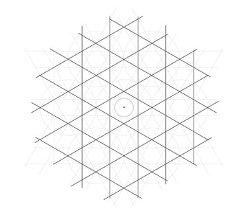 Flowery tiling pattern step 10