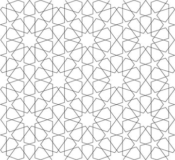 Tenfold Star in a Rectangle tiled