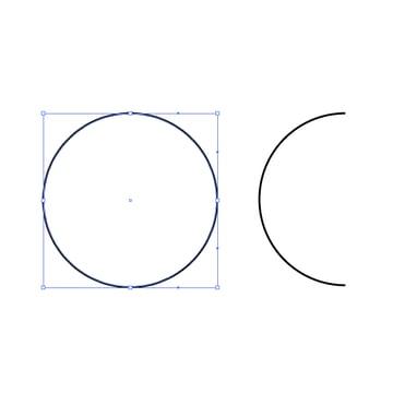 Create a half circle
