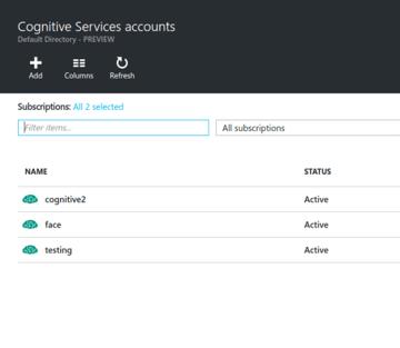 Cognitive Services Accounts