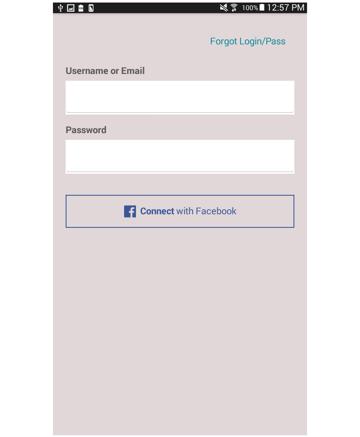login page added facebook login button styles