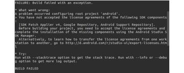 Android build error