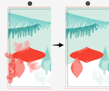 add some texture around the edges of the ornaments