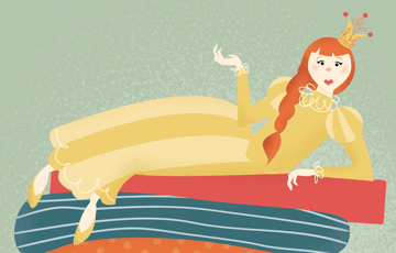 adding details to princess illustration