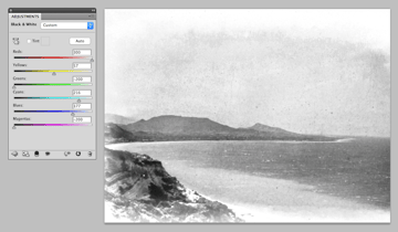 converting photo to black and white