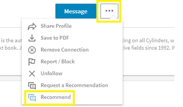 How to recommend someone on LinkedIn