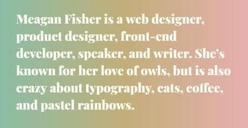 web designer short bio