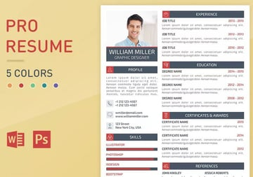Graphic-resume-template-resume-font