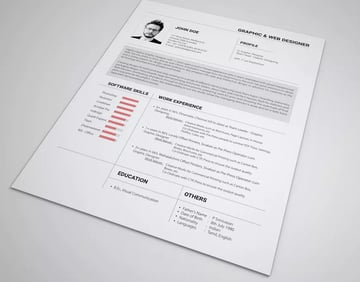 Resume with Roboto font