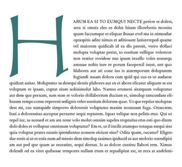 Final Drop Cap typography effect