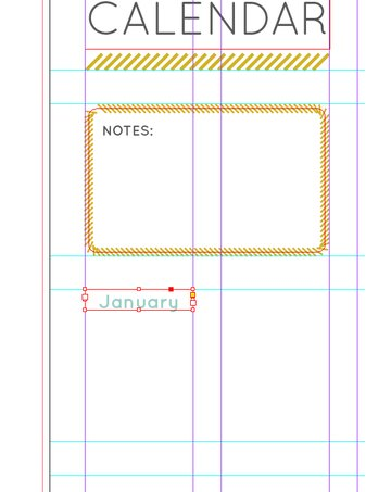 text frame on grid