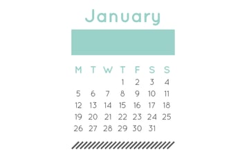 january layout