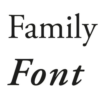font vs font family