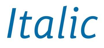italic weight