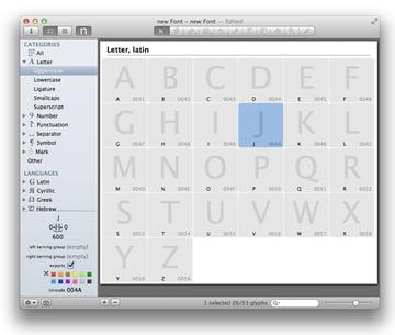 Glyphs new window