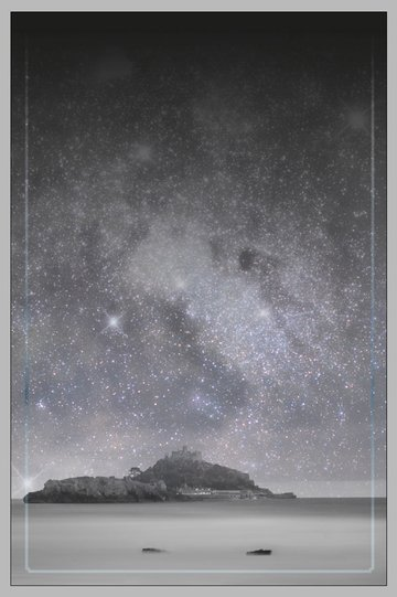 island and starry sky