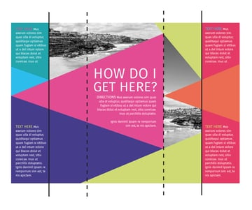 fold marks on brochure