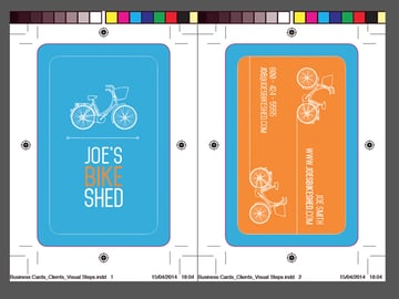 exported business card
