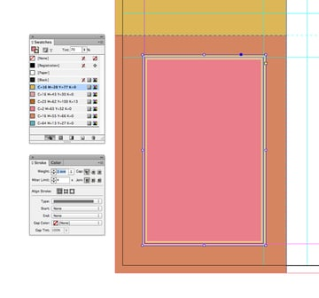 pink shape with border