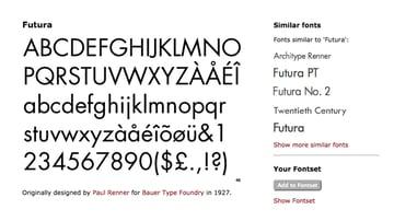 futura similar fonts