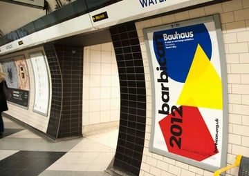 barbican poster on tube