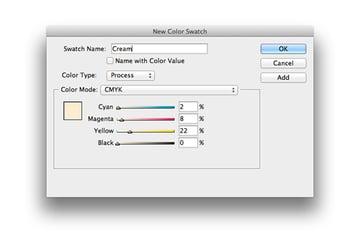 new color swatch cream