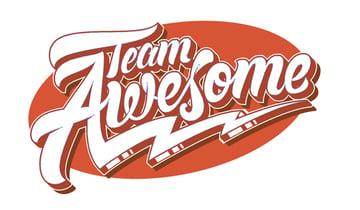 Team Awesome logo created in Adobe Illustrator