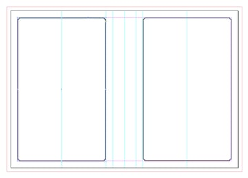 borders on back and front